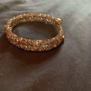 Brown/Gold Swarovski Bracelet